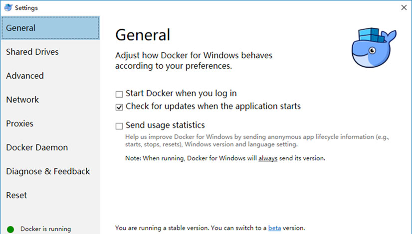 Windows Docker Daemon